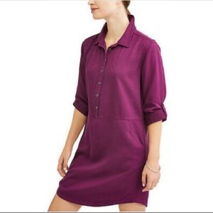 NWT Eggplant TIME and TRU Womens XXL  Shirt Dress